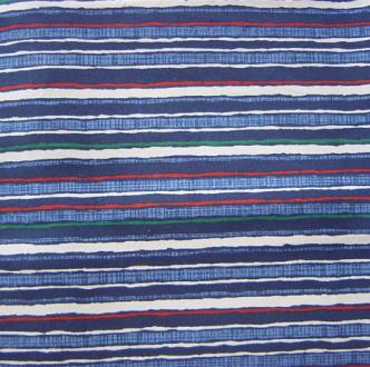 藍の縞(60×180cm)