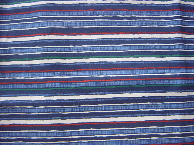 藍の縞(70×180cm)